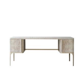 Tambour Desk - Double by Poritz & Studio For Sale