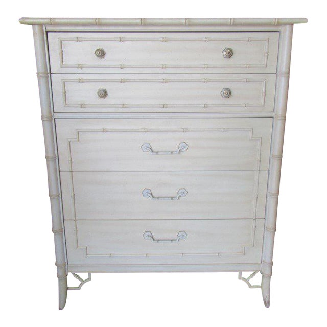 Thomasville Palm Beach Faux Bamboo Dresser - Image 1 of 8