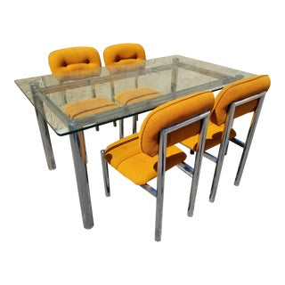 Vintage 1970s Mid Century Modern CalStyle Dining Set - 5 Pieces For Sale