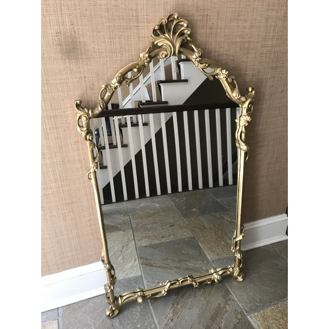 Chinoiserie Gold Carved Wall Mirror For Sale - Image 13 of 13
