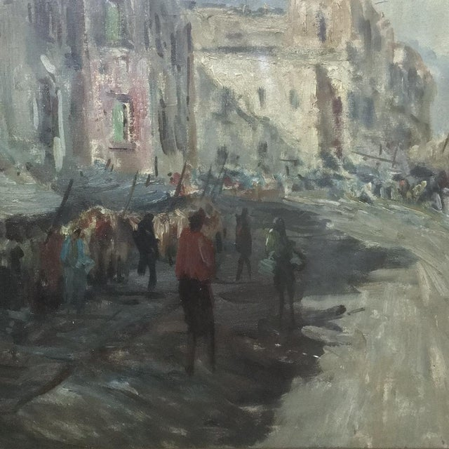 Canvas Antique Impressionist Framed Oil Painting by Francesco Filosa (1910-1990) For Sale - Image 7 of 11
