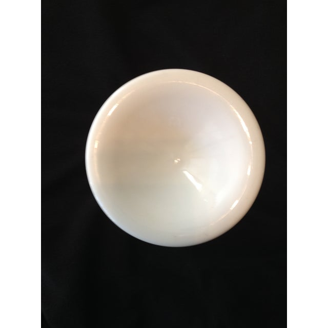 """Traditional Westmoreland Milk Glass 9 1/4"""" Footed Vase - Image 4 of 5"""