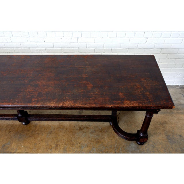 19th Century English Oak Refectory Dining Banquet Table For Sale In San Francisco - Image 6 of 13