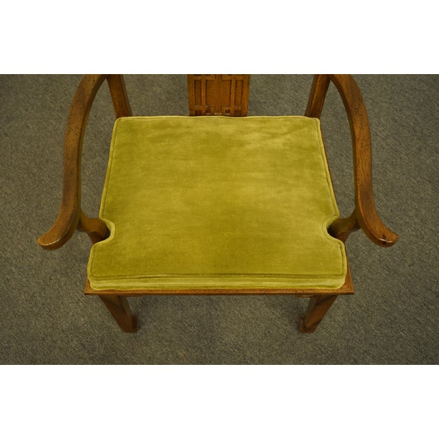 Late 20th Century Century Furniture Asian Inspired Chinoiserie Dining Arm Chair For Sale - Image 5 of 10