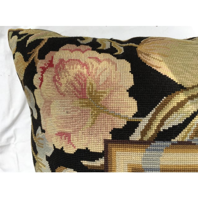 French Needlepoint Aubusson Pillow For Sale - Image 5 of 7