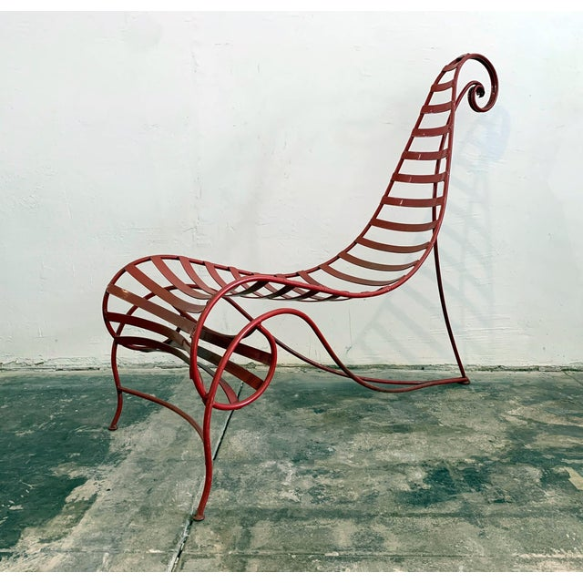 Iron Spine Chair Attributed to Andre Dubreuil For Sale - Image 11 of 11