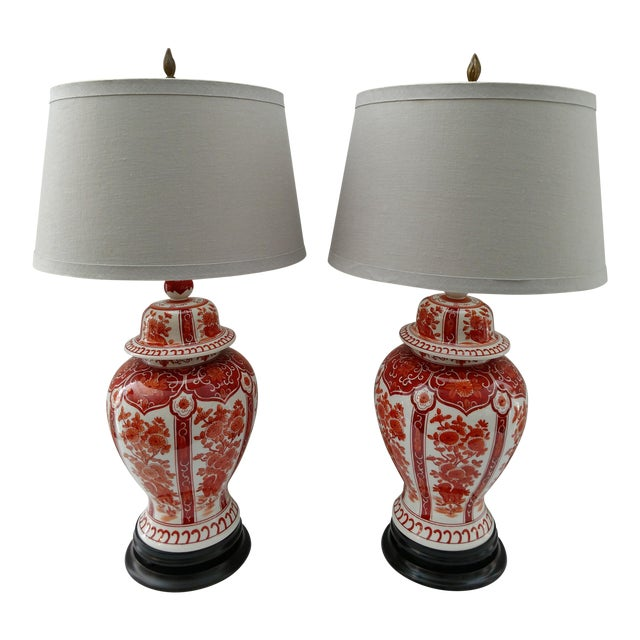 Vintage hand painted asian table lamps a pair chairish vintage hand painted asian table lamps a pair mozeypictures Choice Image