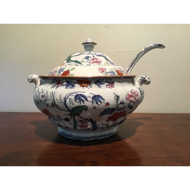 Antique Soup Tureen & Ladle - Image 3 of 4