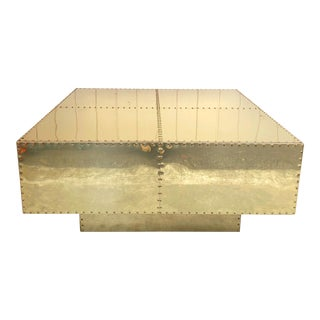 Tiered Sarreid Brass Coffee Table For Sale