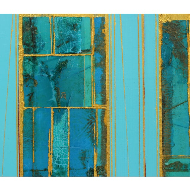 """Abstract """"Elements No. 8"""" Original Abstract Mixed Media Painting by Alexander Eulert For Sale - Image 3 of 10"""