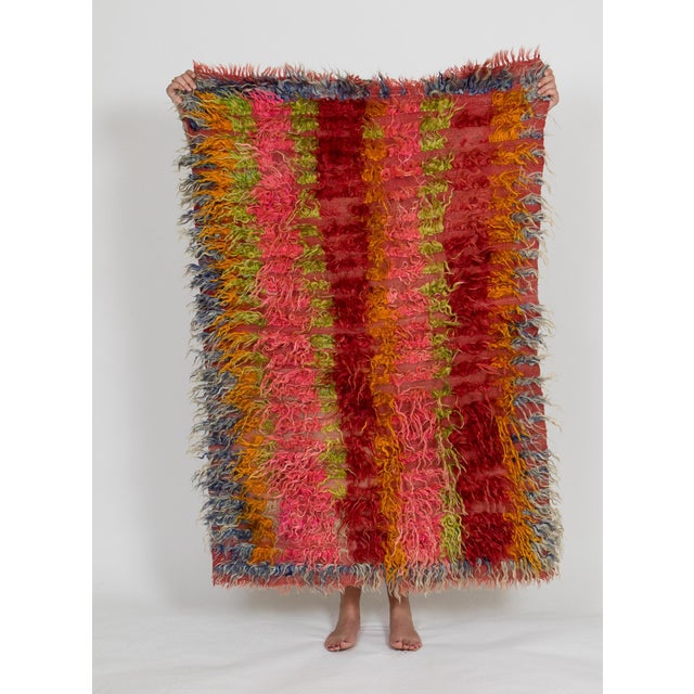 Boho Chic Christopher Farr Tulu Dyed Goat Chin Hair Rug - 3′5″ × 5′ For Sale - Image 3 of 3