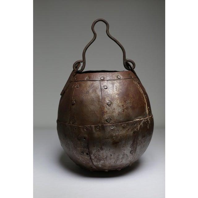Vintage Handmade Metal Bucket - Image 2 of 5