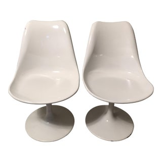 Mid Century Modern Fiberglass Side Chairs - a Pair