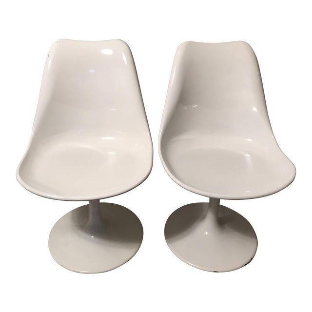 Mid Century Modern Fiberglass Side Chairs - a Pair - Image 1 of 8
