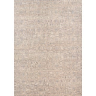 Schumacher Patterson Flynn Martin Monarch Hand-Knotted Wool Geometric Rug - 9' X 12' For Sale