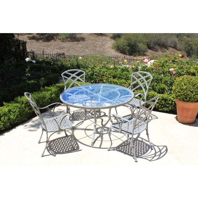 Early 21st Century French Iron Garden Dining Set - 5 Pieces For Sale - Image 5 of 5