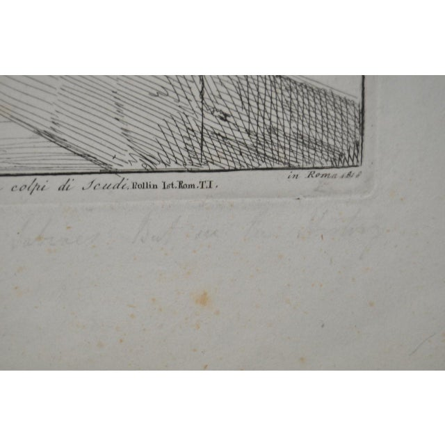 """Bartolomeo Pinelli Engraving """"Killed in Betrayal"""" c. 1818 For Sale In San Francisco - Image 6 of 7"""