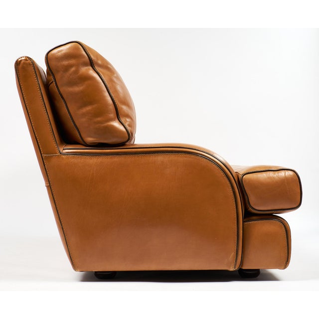 Vintage Baxter Italian Leather Sofa For Sale In Austin - Image 6 of 10