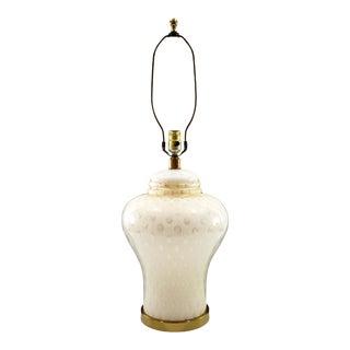 Mid-Century Paul Hanson Murano Bullicante Glass Lamp For Sale