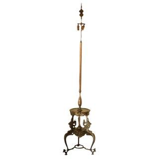 Japanese Bronze Floor Lamp For Sale