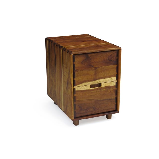Wood Jim Sweeney Koa Filing Cabinets - a Pair For Sale - Image 7 of 11
