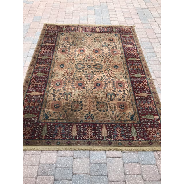 Luxurious Karastan Carpet. Excellent quality and condition. Beautiful, rich colors. 100% wool, Samovar Tea Wash in the...