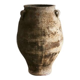 Monumental Antique Turkish Olive Jar For Sale