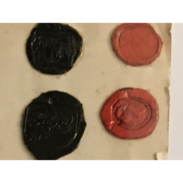 Mid 18th Century Antique English 29 Red and Black Intaglios Wax Seals For Sale - Image 5 of 12