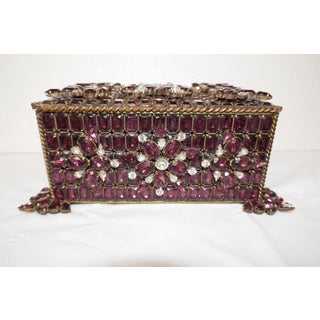 Vintage Purple Swarovski Jeweled Box Preview