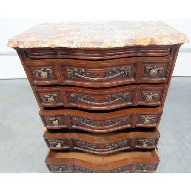 Louis XV Style Marble Top Dresser. For Sale - Image 4 of 11