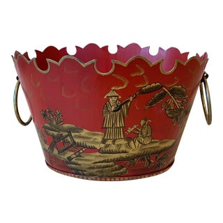 Chinoiserie Tole Cachepot For Sale