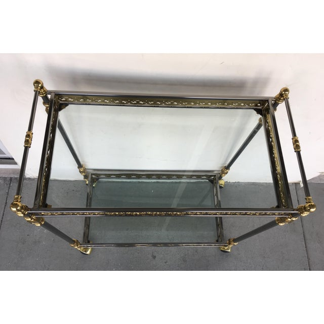 Modern and Classic Italian Brass & Glass Bar Cart - Image 7 of 8