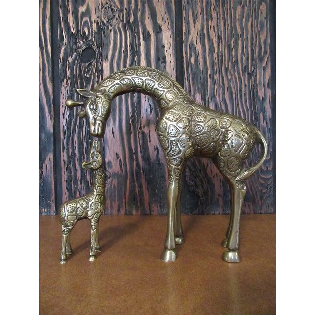 Vintage Brass Giraffe Family - Set of 3 - Image 3 of 6