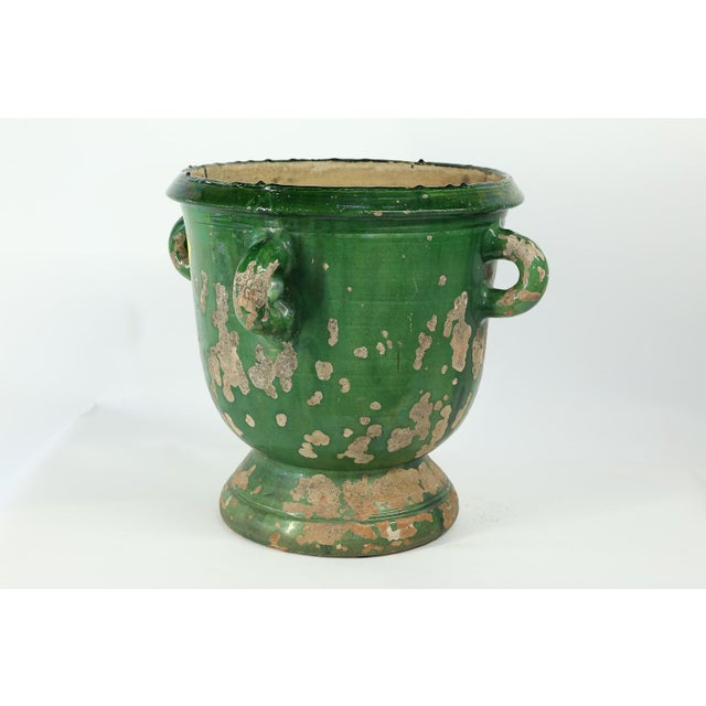 Ceramic Glazed Terracotta Planter from Anduze, France For Sale - Image 7 of 8