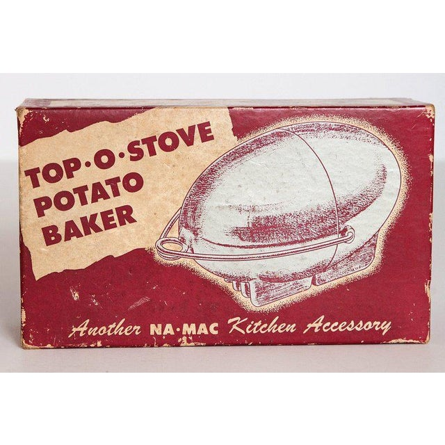 Art Deco Machine Age potato baker, Raymond Barton for Na - Mac, with original box potato baking magic. Difficult to source...