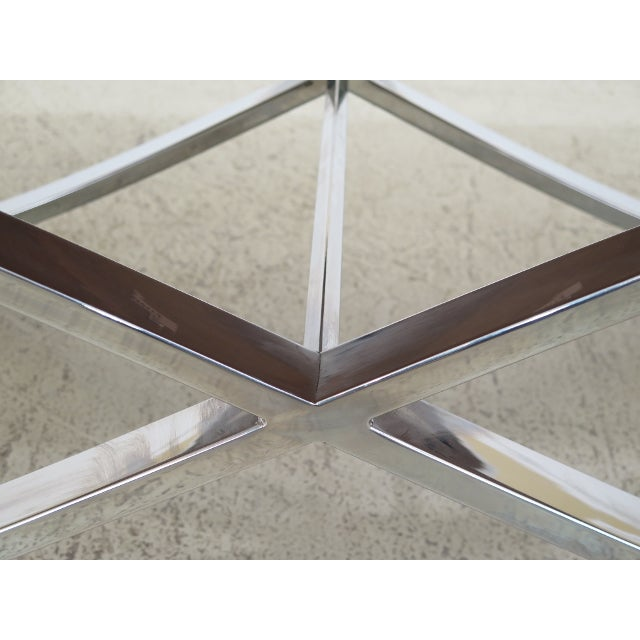 Mid Century Modern Chrome Base Coffee Table For Sale In Philadelphia - Image 6 of 9