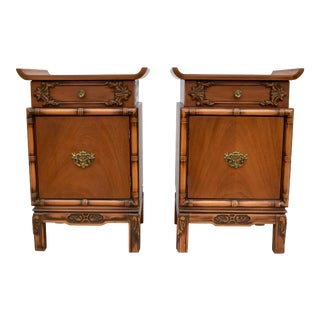 Chinoiserie Pagoda Nightstands - a Pair For Sale