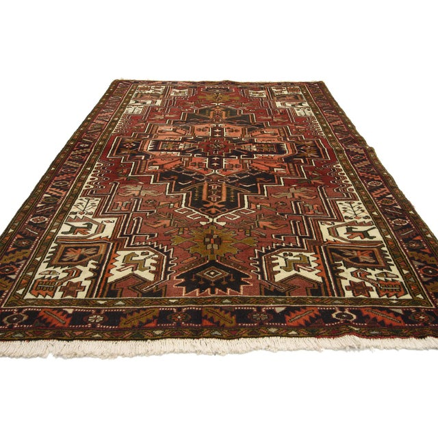 Vintage Persian Heriz Rug with Modern Style - 4′10″ × 7′6″ For Sale - Image 4 of 5