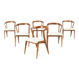 Set of Mid-Century Modern Bertha Schaefer for Singer + Sons Dining Chairs For Sale