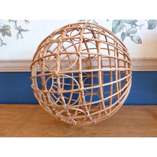 Franco Albini Style Globe Pendant Light Shade For Sale - Image 4 of 9
