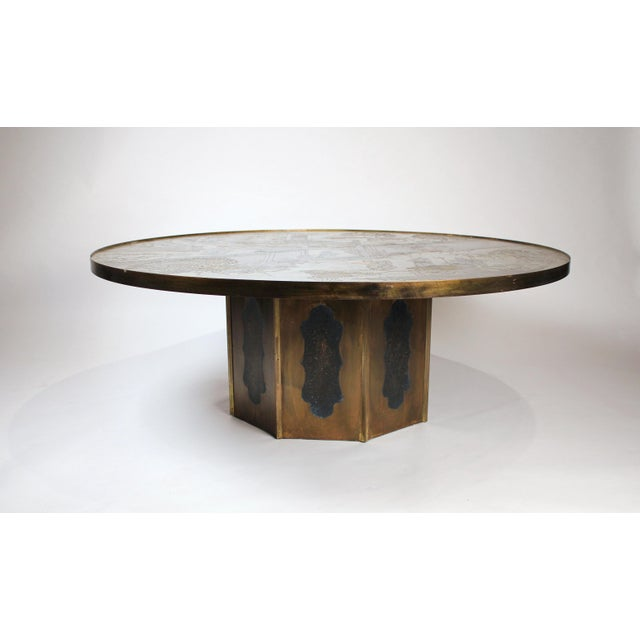 """Asian Large Bronze """"Chan"""" Cocktail Table by Philip & Kelvin Laverne For Sale - Image 3 of 10"""