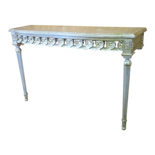 Florentine Silver Gilt Console Table