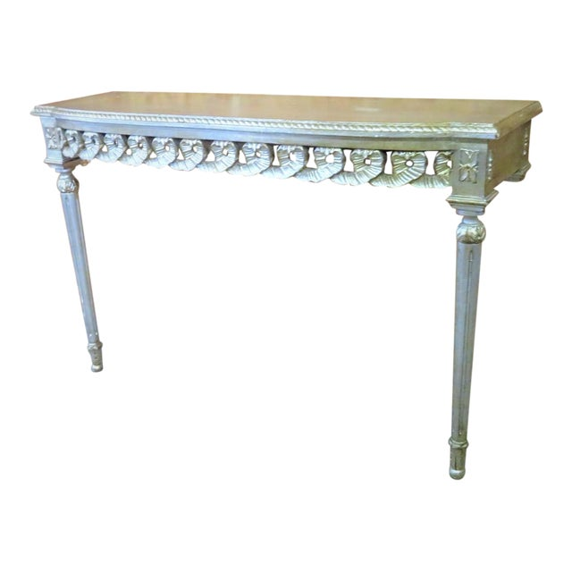 Florentine Silver Gilt Console Table For Sale