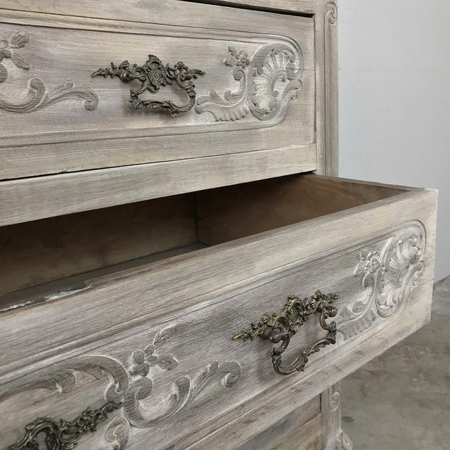 19th Century Country French Whitewashed Commode For Sale In Dallas - Image 6 of 13