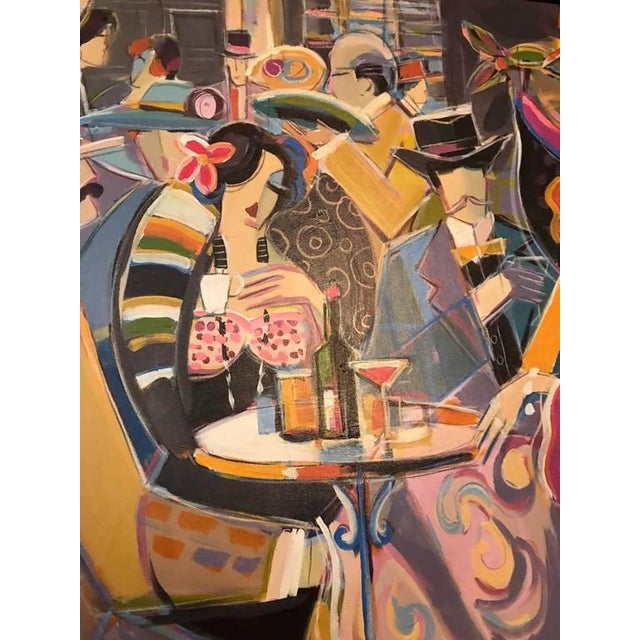 """Original Isaac Maimon Signed """"Sharing Great Times"""" For Sale - Image 5 of 10"""