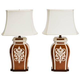 Pair of Frederick Cooper Ginger Jar Lamps For Sale