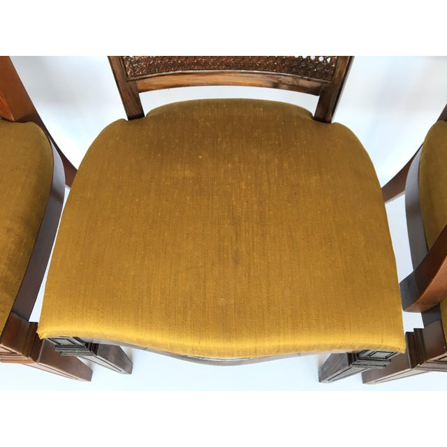 Century Furniture Century Furniture Hibriten Cane Back Dining Chairs - Set of 6 For Sale - Image 4 of 8