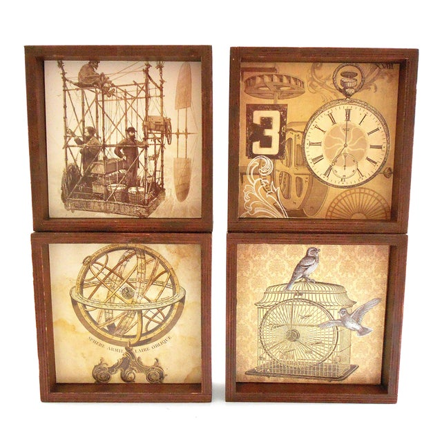 Black Steampunk Drink Coasters - Set of 12 For Sale - Image 8 of 10