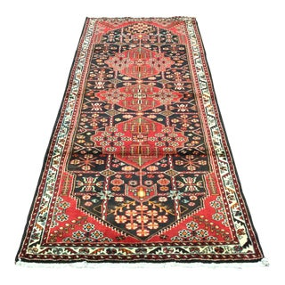 1940s Vintage Persian Handmade Runner Rug - 3′8″ × 10′ For Sale