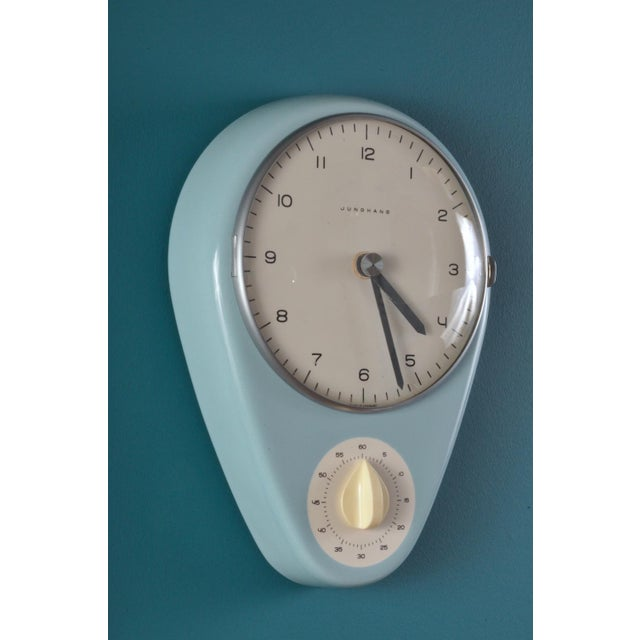 Kitchen wall clock by industrial designer, architect and graphic artist Max Bill. An important and recognizable mid...